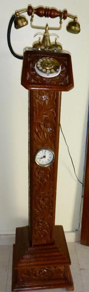 A very unique telephone clock.