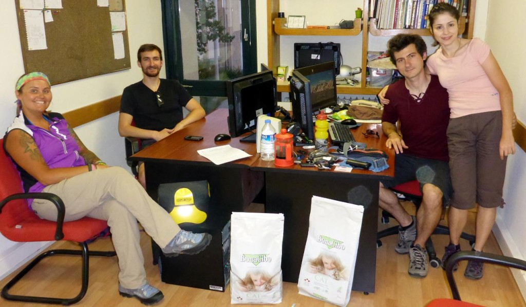 On the left, touring cyclist Mark from England and going our way on a Surly. On the right the new PhD's, Dr. Deniz and Dr.Banu in their Middle East Technical University office.