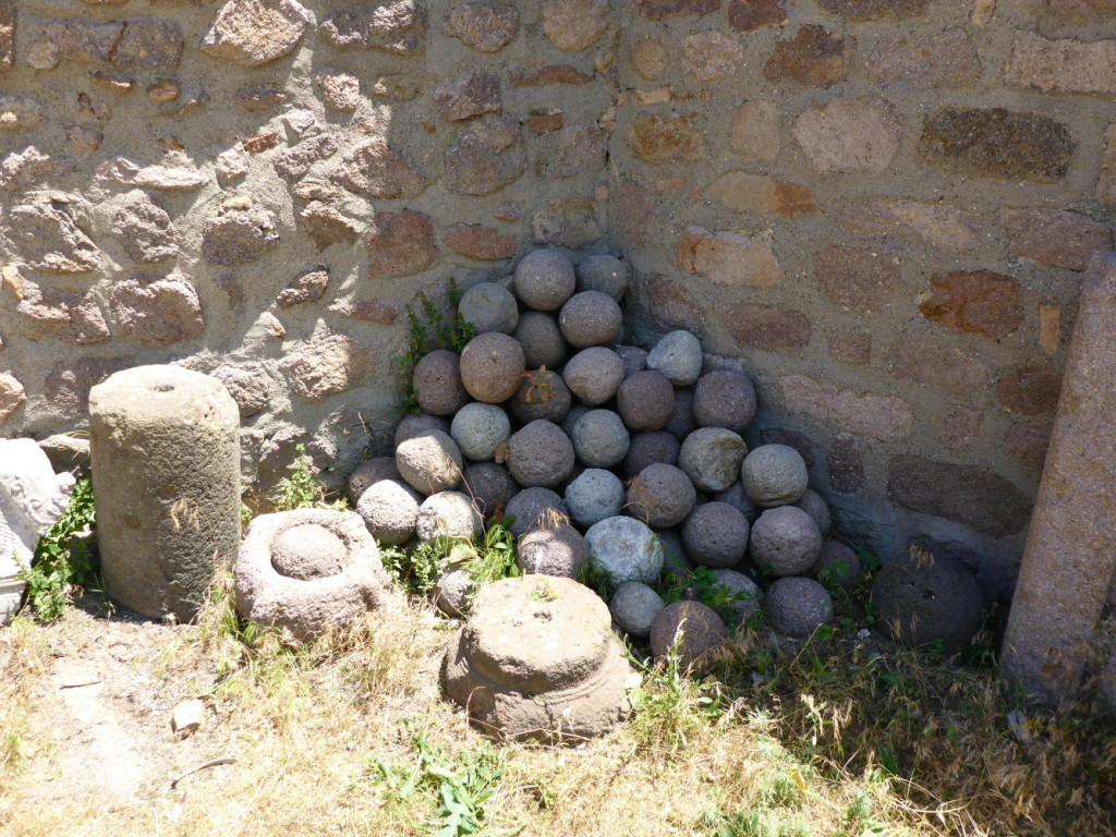 Old cannon balls.