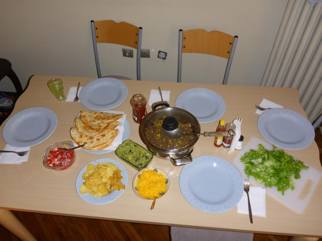 A Mexican feast - Taco Tuesday - in Turkey.