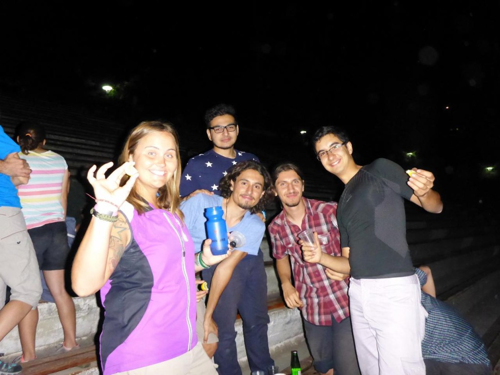 Jocelyn made lots of new friends from the Middle East Technical University orienteering club. The shots were flowing. The guy in the blue star shirt performed Michael Jackson's famous moonwalk 100 meters on the track!