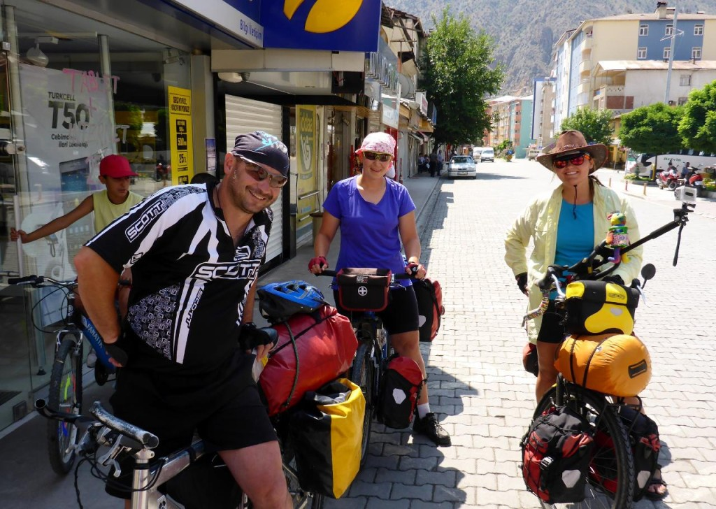 On our way out of Yusufeli we met a couple from Poland cycling the opposite direction.