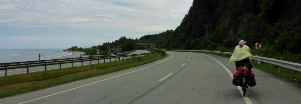 Riding north to Georgia along the Black Sea.