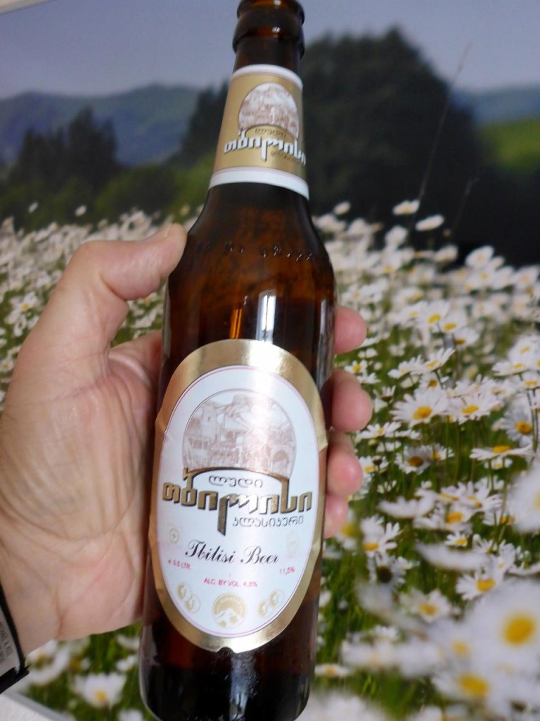 A fine Tbilisi beer.