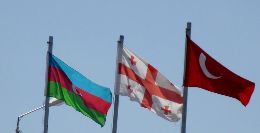 From the left...Azerbaijan, Georgia, and Turkey.