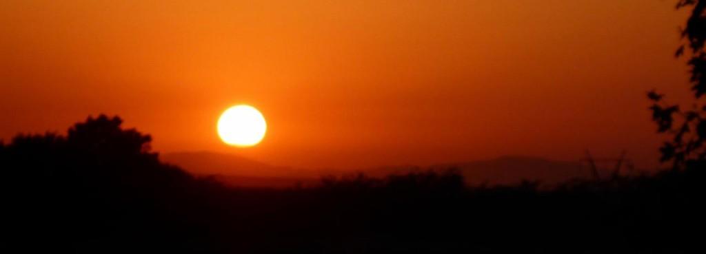 An Azerbaijan sunset.