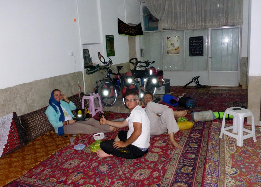 We spent the night in a mosque's community canter. Very comfortable.