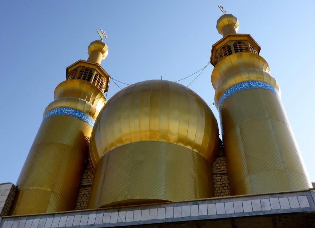 The very pretty mosque in Mehmanduost.