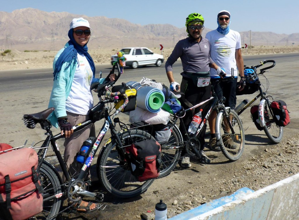 We met an Iranian cyclist headed our way.