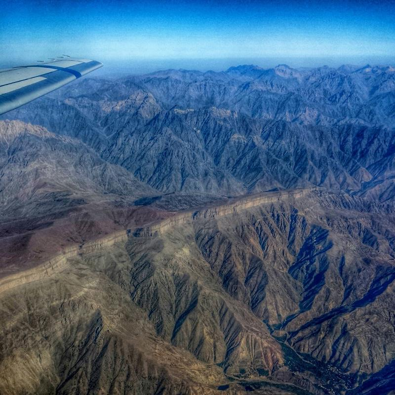 The Turkmenistan mountains between Iran and Tajikistan are impressive.