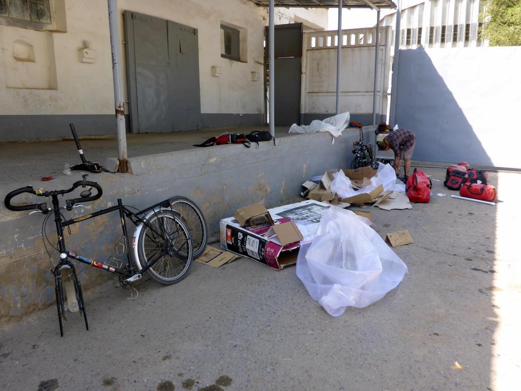 Our bikes and gear arrived safely thanks to Iran Aseman Airlines.