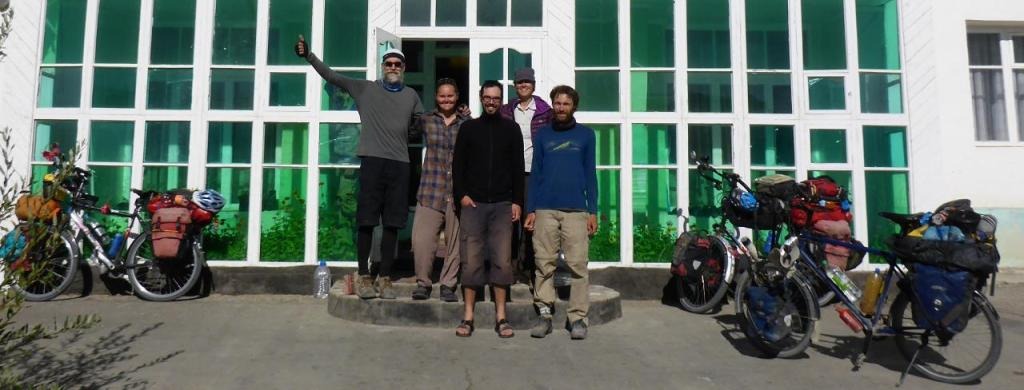 Our Swiss friend Michael, on the right, rode out with us while Nik and Virginia left the next day.