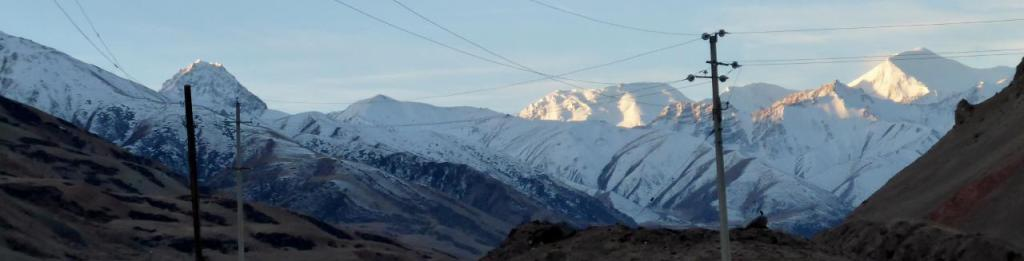 The Pamir Mountains from the Kyrgyzstan border with winter approaching.