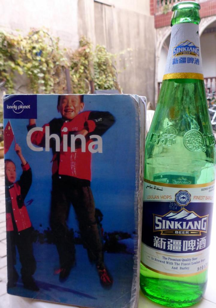 A fine Chinese beer available at the hostel for $.90. The label says the water is from melted snow.