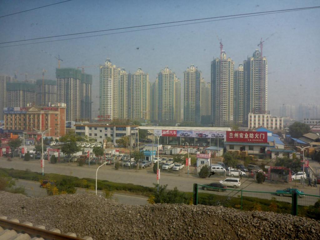 Lanzhou is full of high rises.