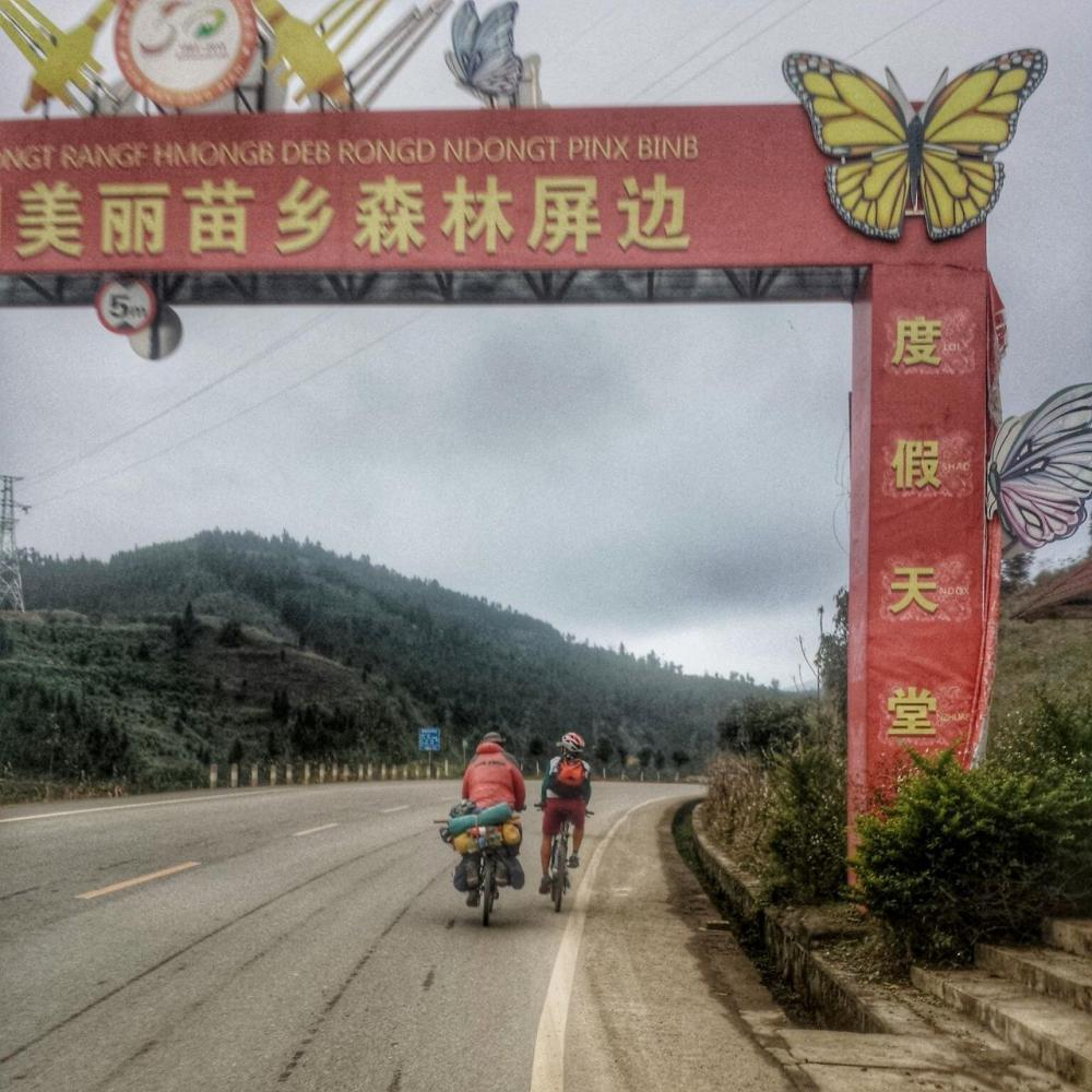 We met three Chinese cyclists on our 2nd day in the mountains.
