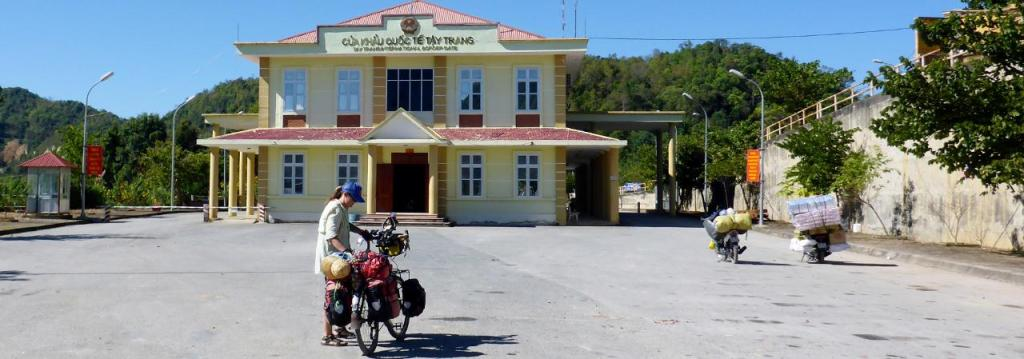 The Vietnam border station at Tay Trang.