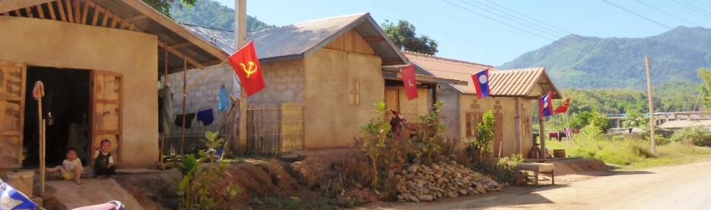 Lao people do like their flags.