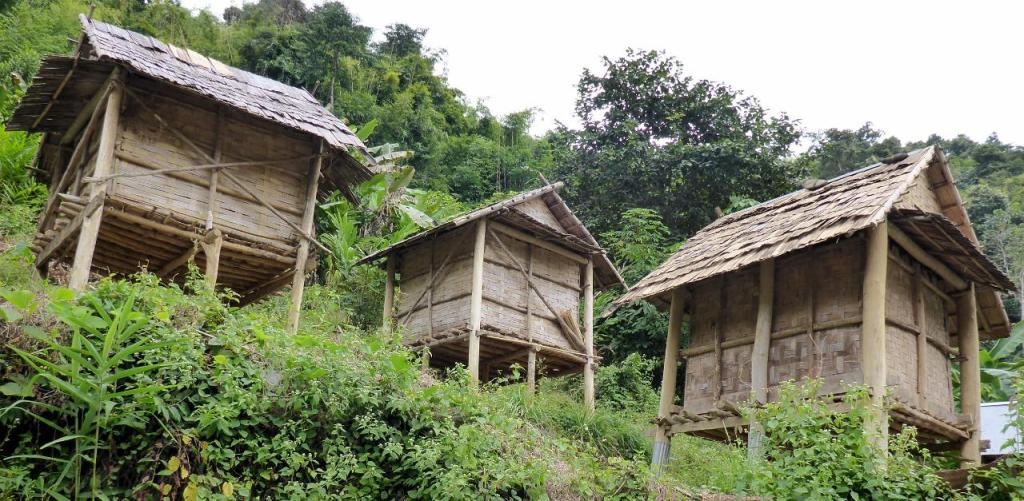 There are some very small homes in Laos.