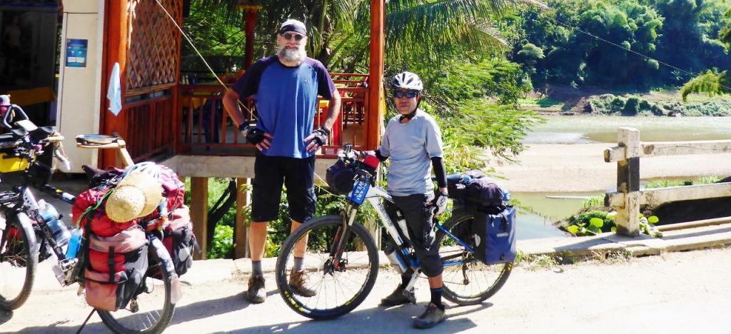 We also met a Japanese cyclist headed to Vietnam. Most cyclists we have met lately are out cycling for a few weeks to a month, hence their lighter load. When we tell people we have been out for 9 1/2 months their mouths drop open in disbelief. Mine does too...as where did the time go?