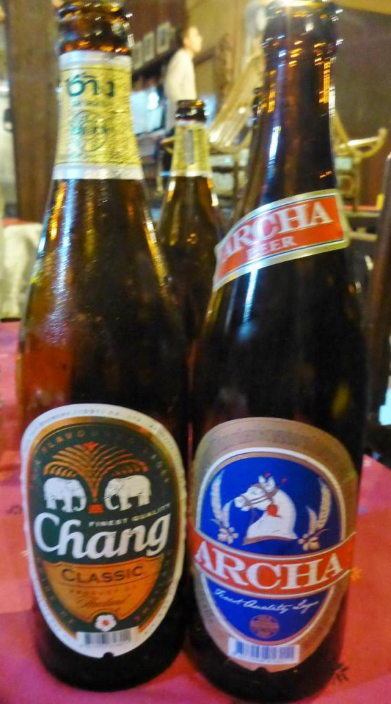 Two fine Thai beers.