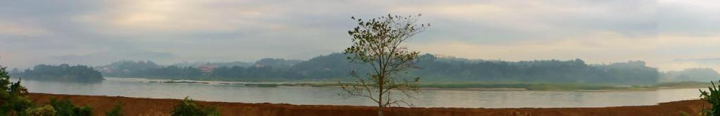 The view of the Mekong River and Laos from our room.