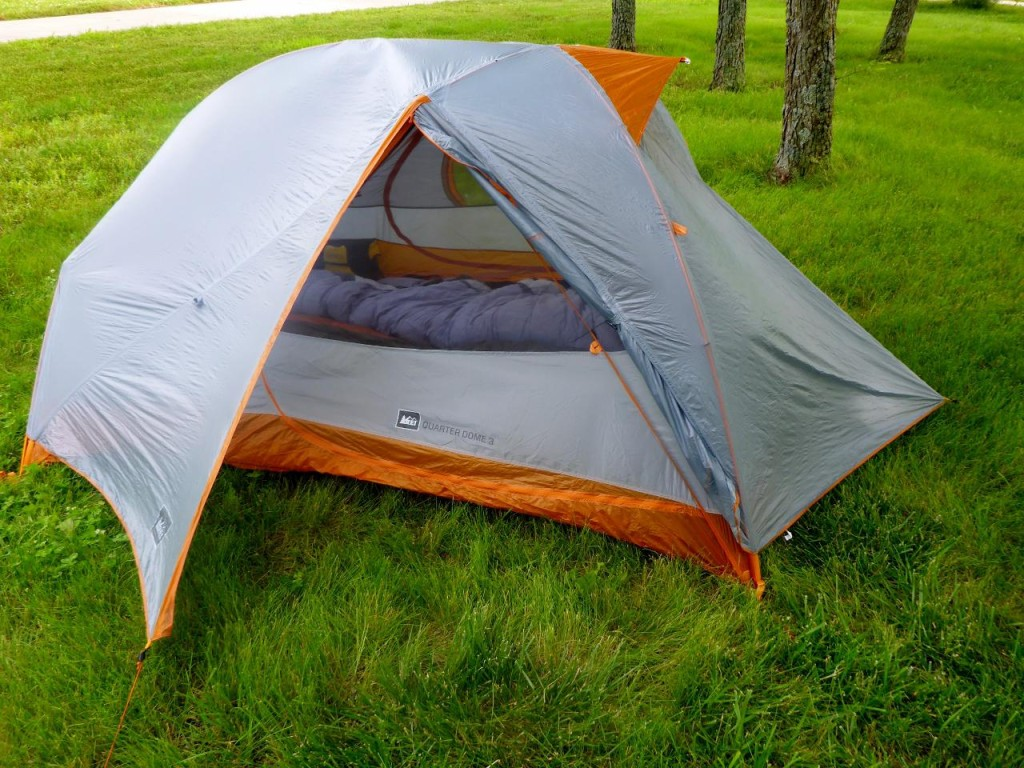 We replaced our two person MSR tent with this three person REI Quarter Dome. A fine tent with lots more room, larger tub and a top vent