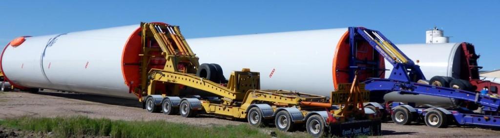 Wind turbine parts.