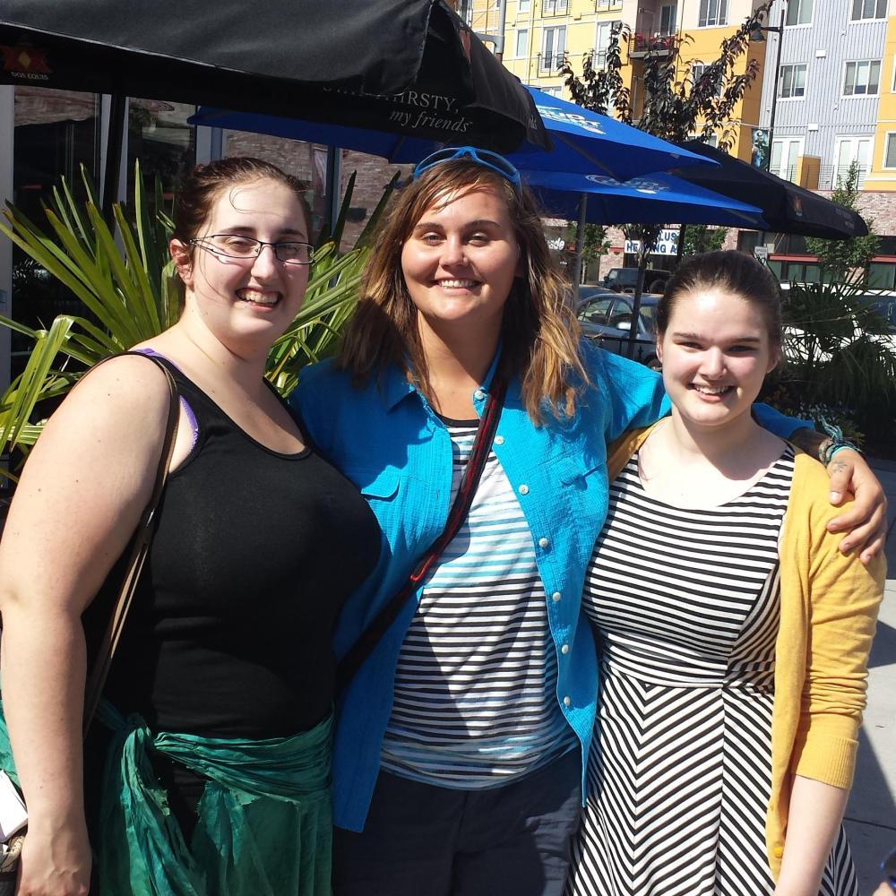 Jocelyn met two of her friends from camp.