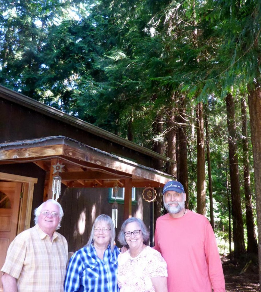 Our excellent hosts Bob and Sue from the town of Langley on Whidbey Island. A home nestled among the tall trees.