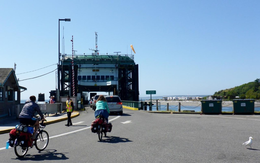 Boarding the ferry to Port Townsend.