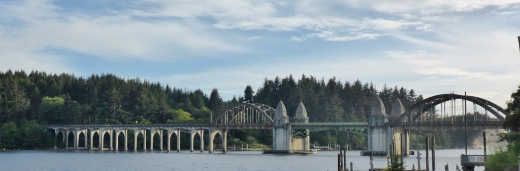 A beautiful draw bridge built in 1936. Florence, Oregon.