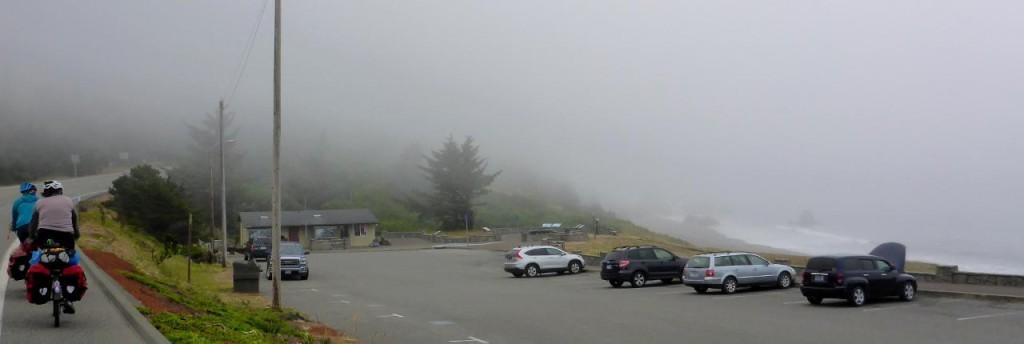 A cool foggy ride through Port Orford.