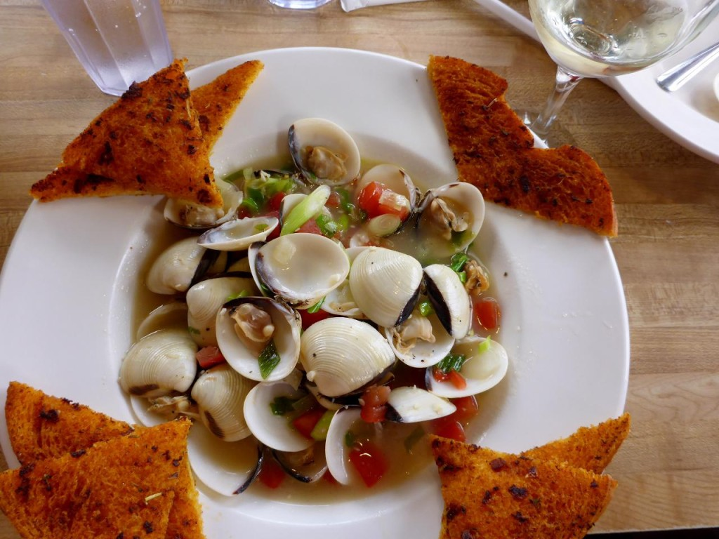 A delicious plate of steamers.