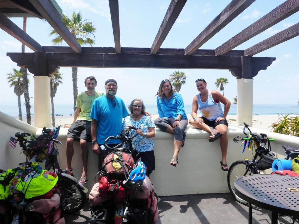 Our group after 1600 miles and an excellent beachfront room compliments of my sister Tish.