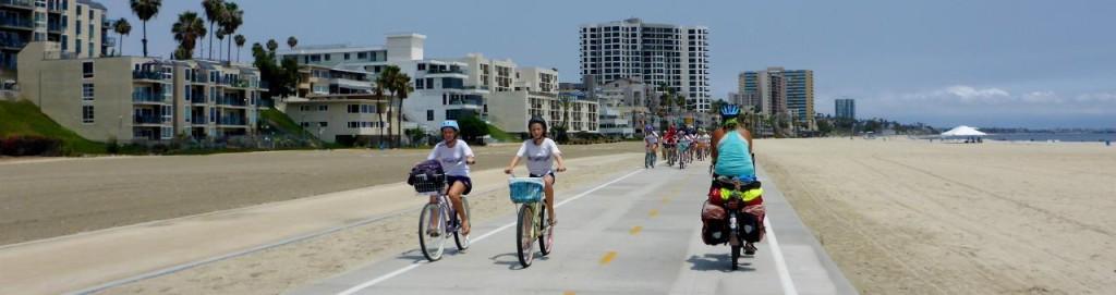 The bike path continues through Long Beach.