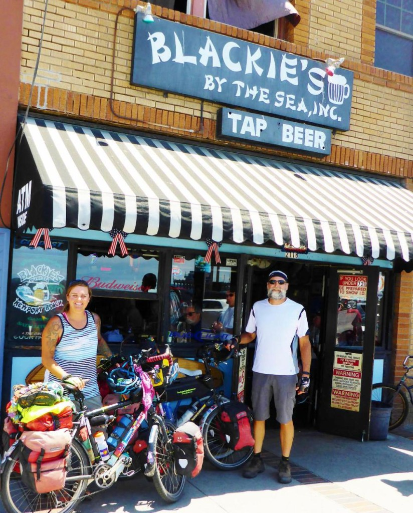 A legit picture with our bikes at Blackie's by the Sea.