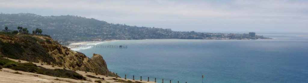 Looking south to Scripp's Institution of Oceanography Pier and La Jolla.