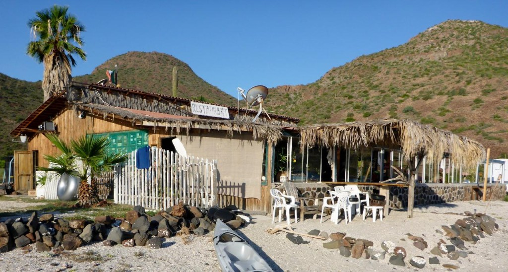 The restaurant at Playa Buenaventura. What a fun place due to the owners Mark and Olivia.