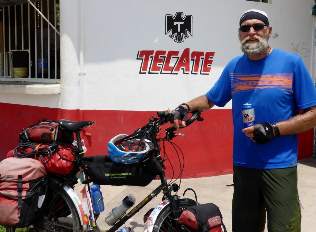 "I am completely soaked in sweat. The Tecate store was a very nice break as we took a nap in the shade. The proprietor brought out two chairs for us and said, ""Mucho color (co lor as in boar)"" which means very hot."