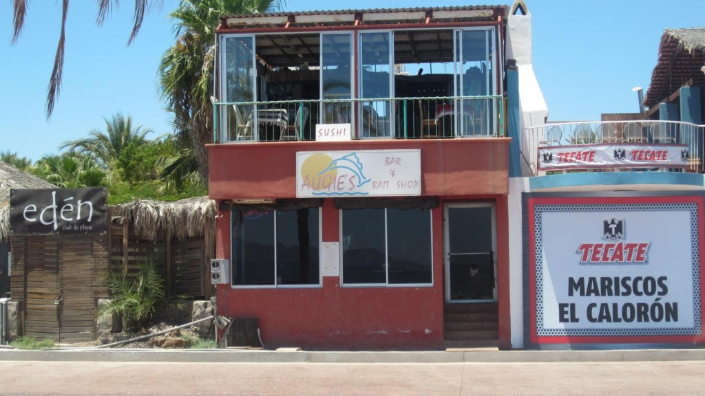 The world famous Augies Bar in Loreto, Mexico. A local gringo fisherman hangout. Thanks guys!