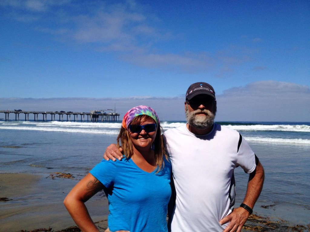 Jocelyn and me in front of Scripps Pier in La Jolla during one of our beach walks. Thanks Tish.