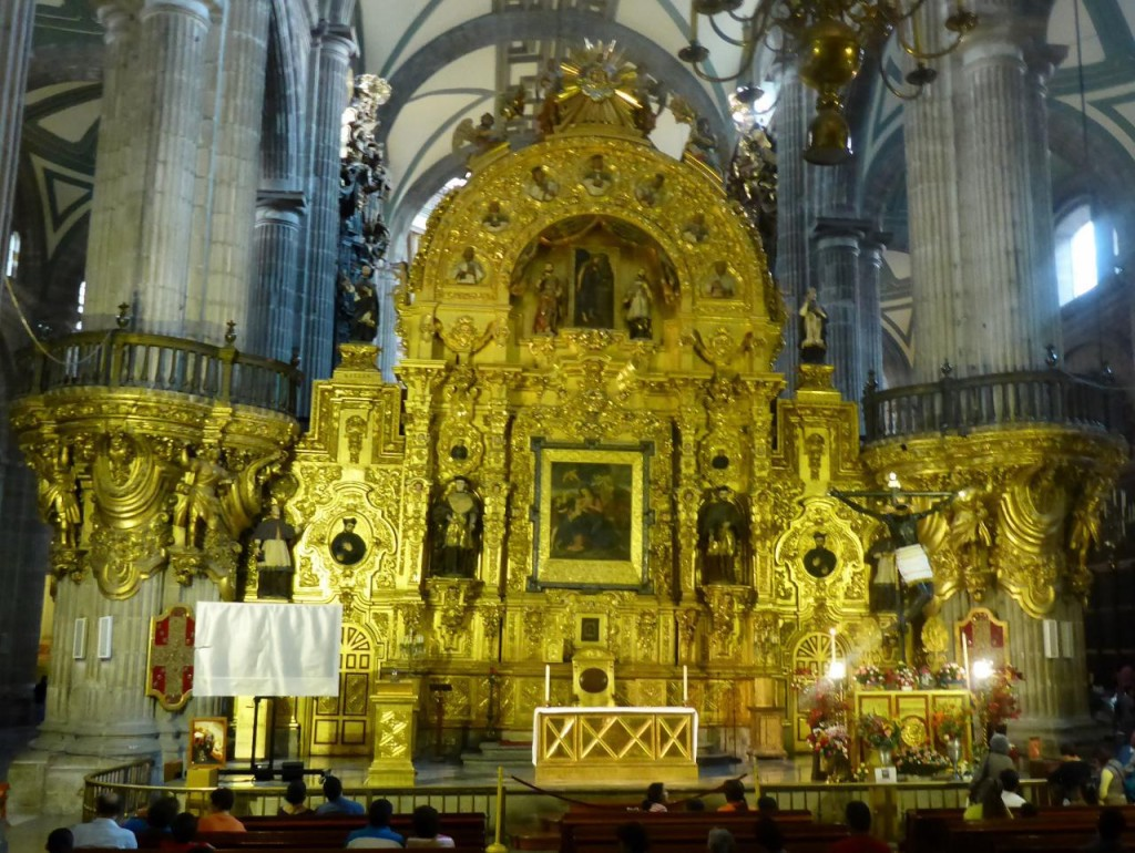 This is the front altar. The main altar in the rear was not open.