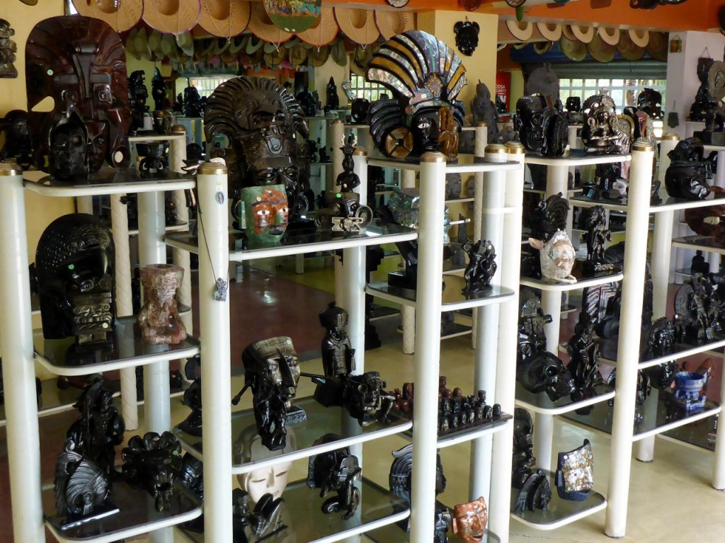 We explored a obsidian (volcanic glass) carving facility. Beautiful carvings that shine different colors in the sun.