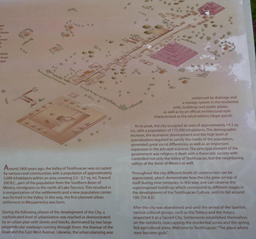 I have posted several pictures explaining the ancient city of Teotihuacan and the pyramids. A worthwhile read.