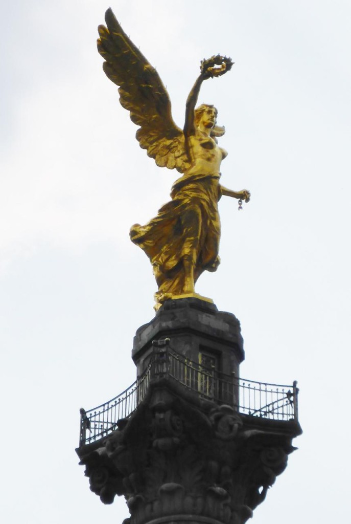 Mexico's Angel of Independence built for the 100 year anniversary in 1910.