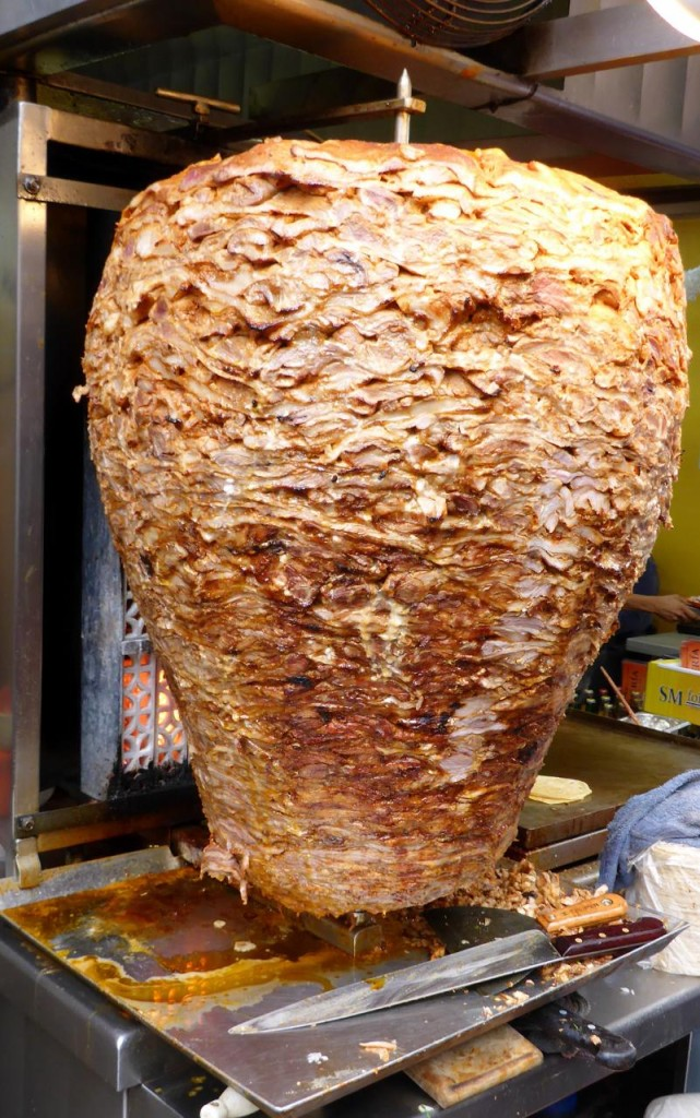 A huge hunk of chickens for doner kebabs. Very popular in Asia.
