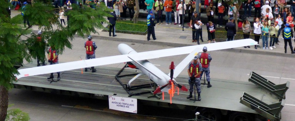 An unmanned flying vehicle.