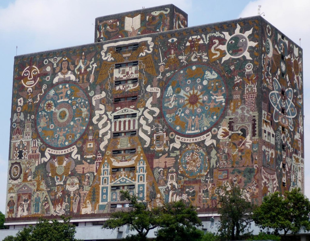 The library at the University Of Mexico.