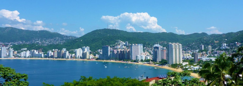 Looking back at Acapulco.